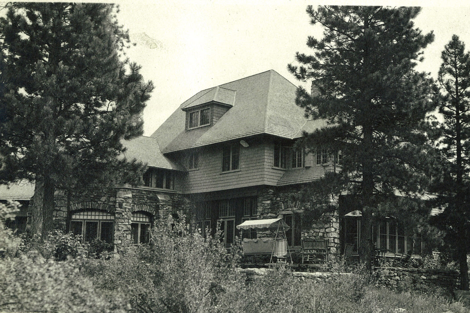 Back of the Manor House in the 1920's.