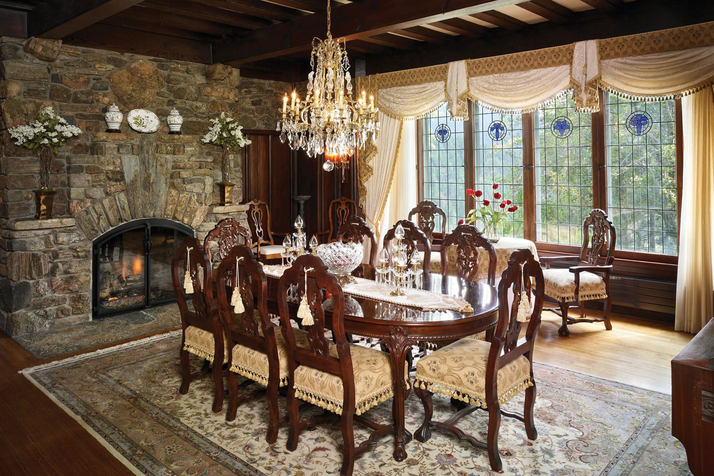 Manor House formal dining room present day.