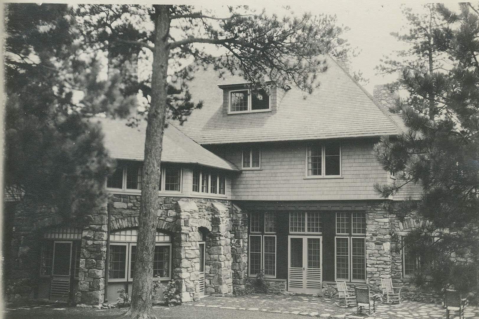 Side patio of the Manor House in the 1920's.