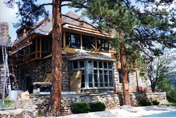 Back of Manor during the 1996 renovation. Care was taken to restore the original dwelling while updating all exterior and interior structures, including the electrical, heating and plumbing.
