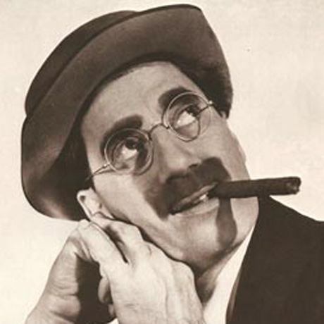 Groucho Marx, 1890-1977, American comedian and film star